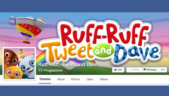 Ruff-Ruff, Tweet and Dave now on Facebook!